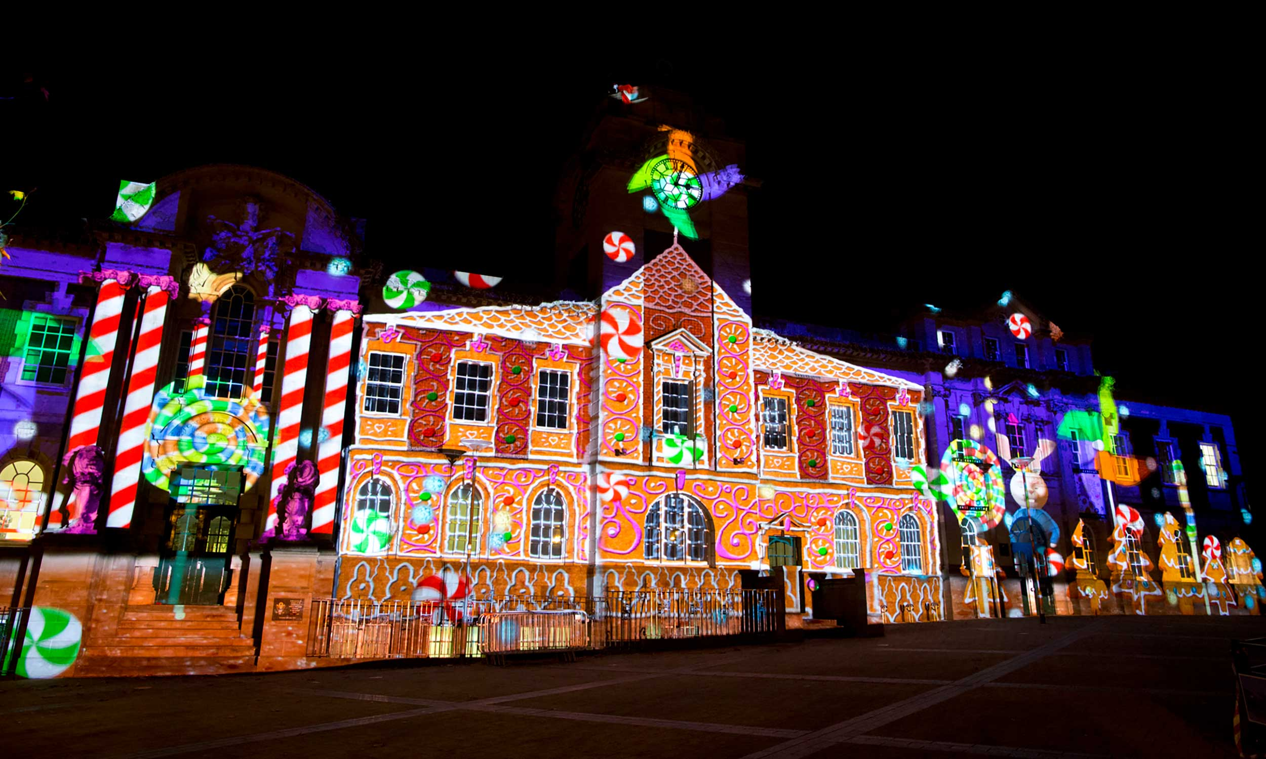 Christmas Lights Projection
