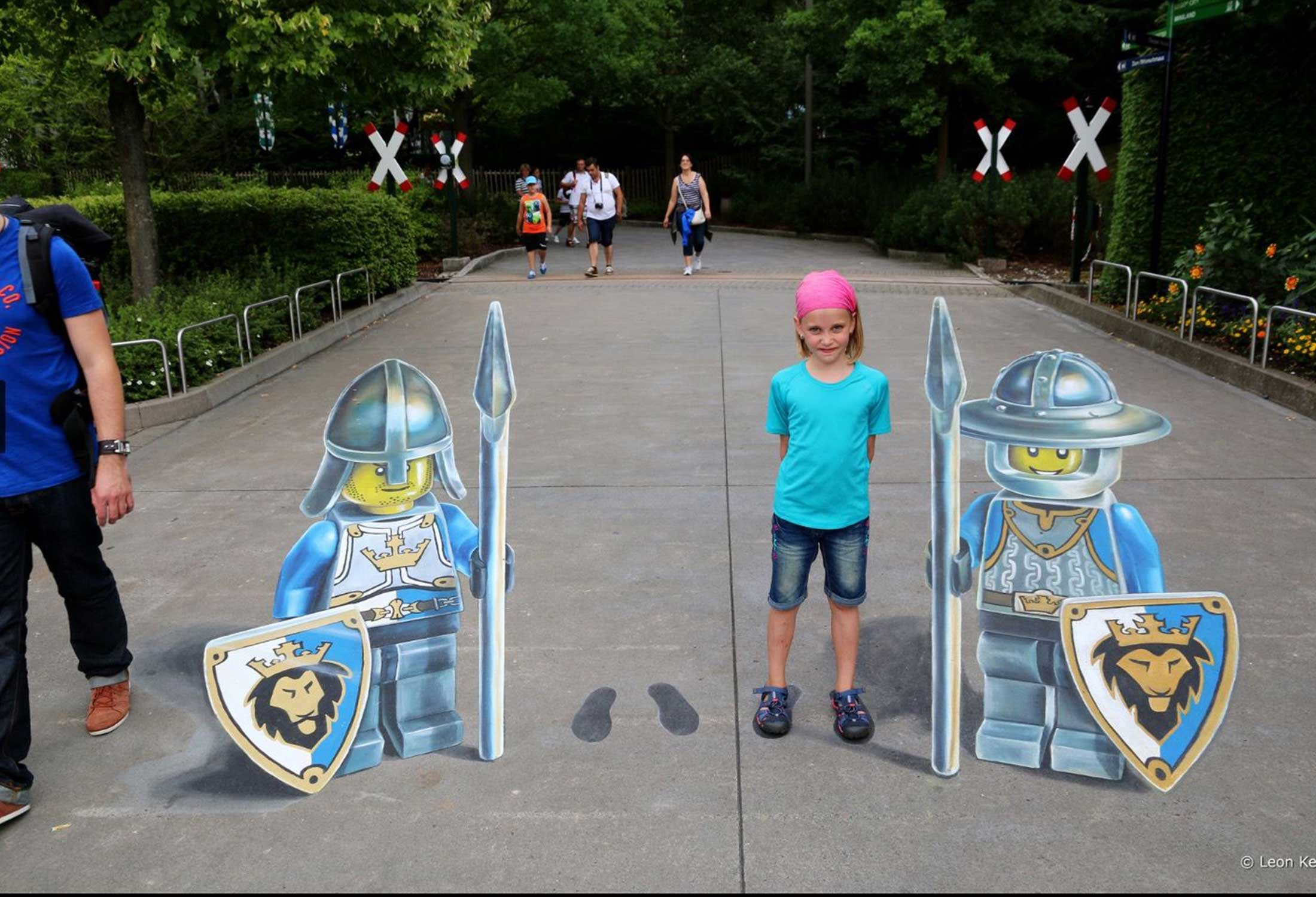 Enchanting 3D art in public places by Leon Keer featuring Lego characters