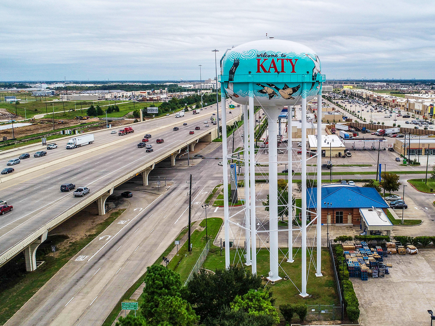 Katy Water Tower Painting Highway Goetzinger