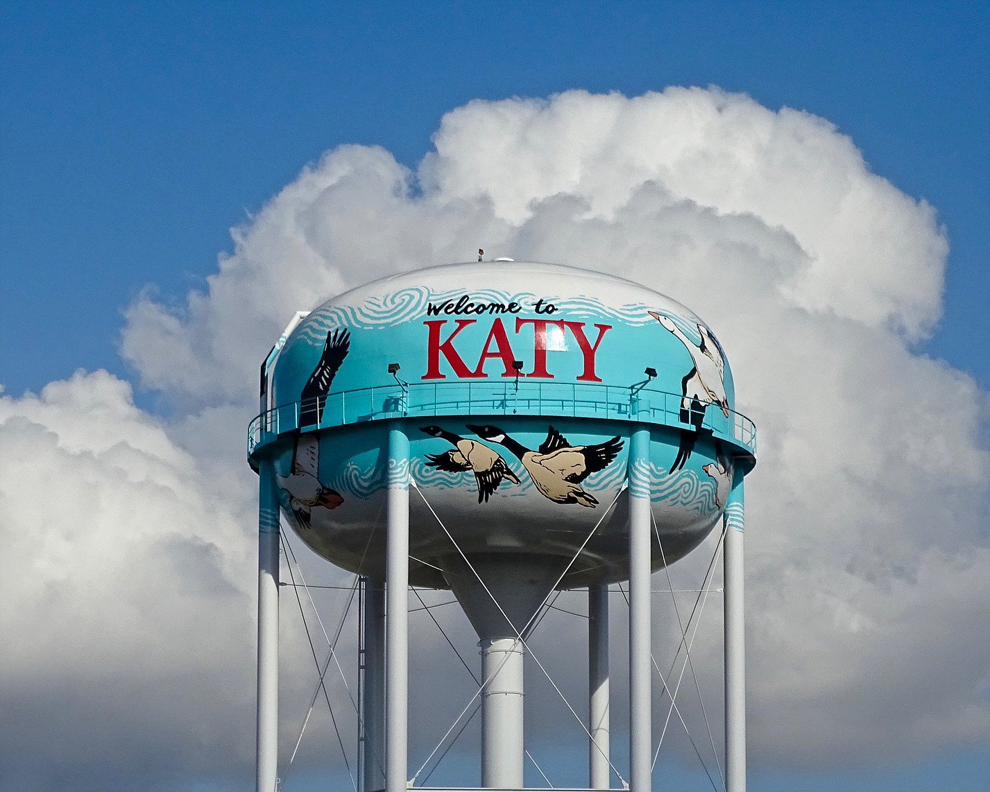Katy Water Tower Painting Goetzinger