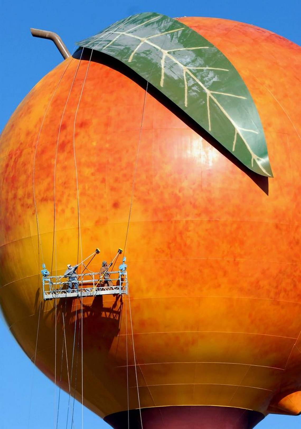 Peachoid Water Tower Sculpture Perspective Eric Henn