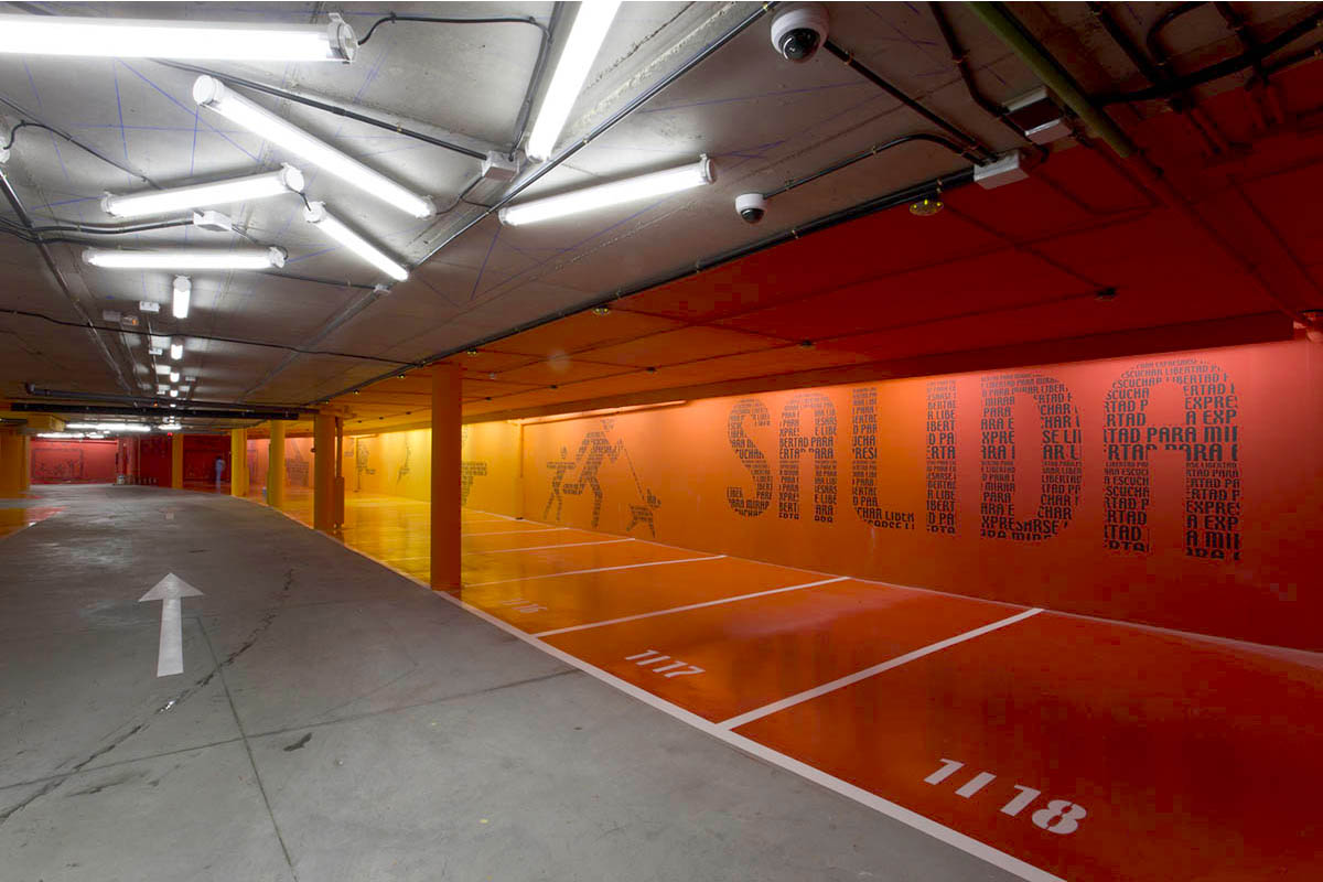 Hotel Puerta De America Parking Lot Art Teresa Sapey