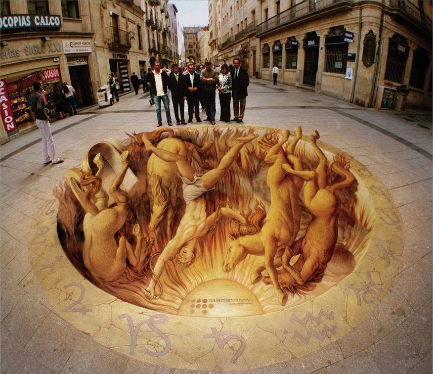 Phaethon Myth Renaissance Pavement Art