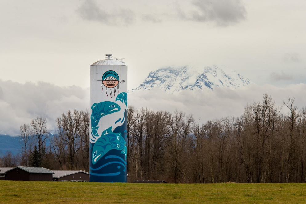 Goetzinger Brothers Beautiful Water Tank Mural Landscape
