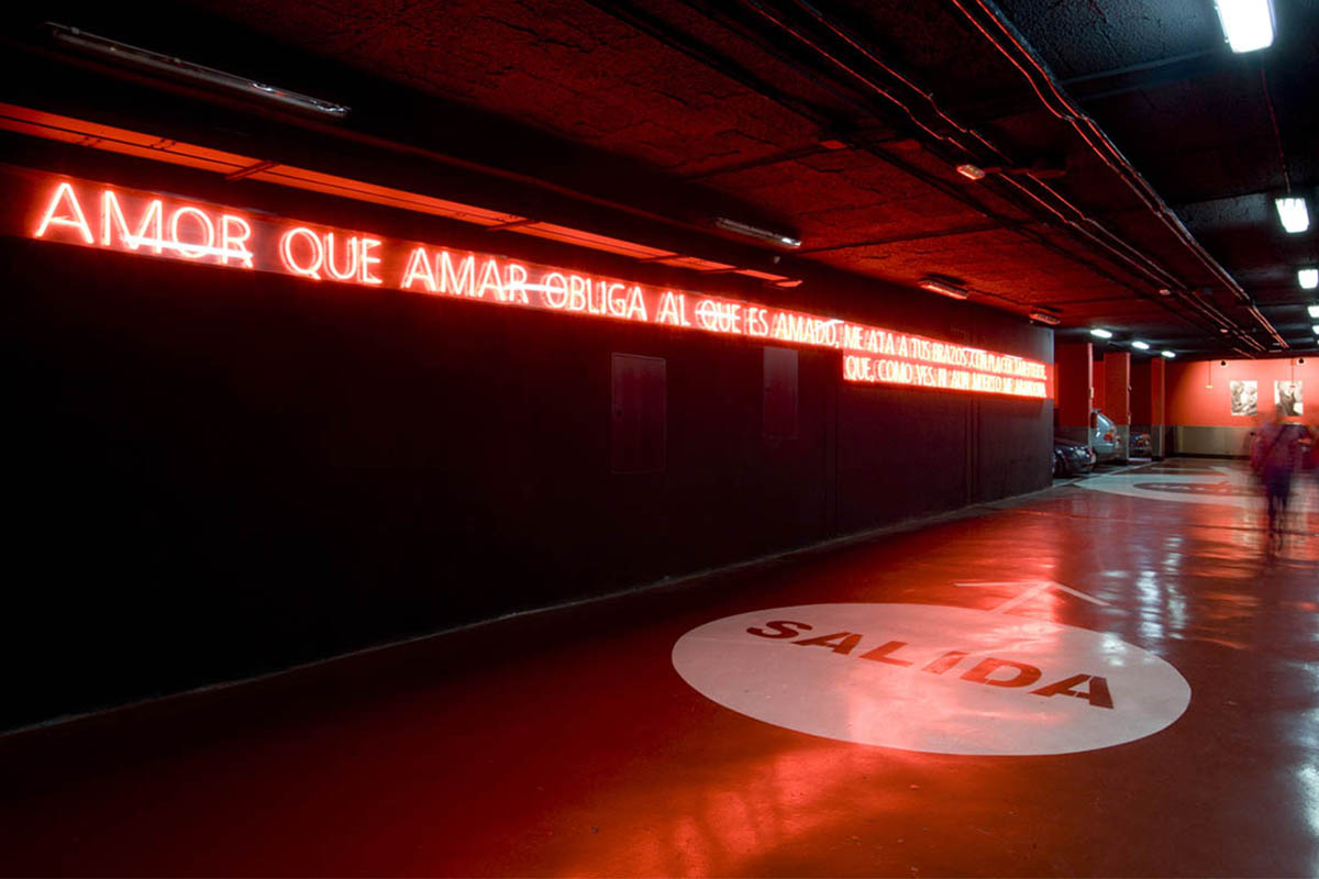 Chueca Dante Parking Lot Design Neon Teresa Sapey
