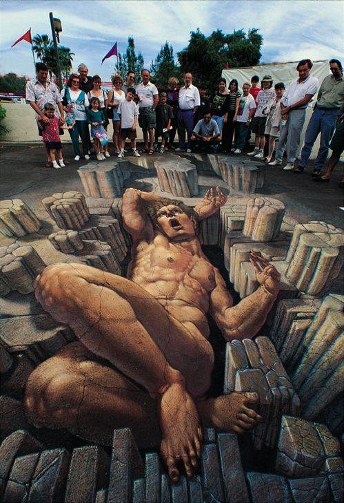 Epic Renaissance Pavement Art