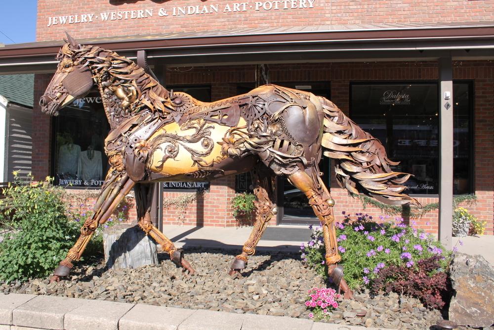 Scrap Metal Sculpture Iron Star Horse