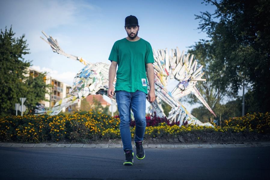 Gabor Szoke Portrait Rainbow Unicorn Recycled Wood Sculpture