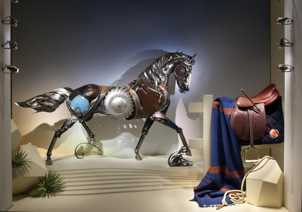 Scrap Metal Sculpture Hermes Horse