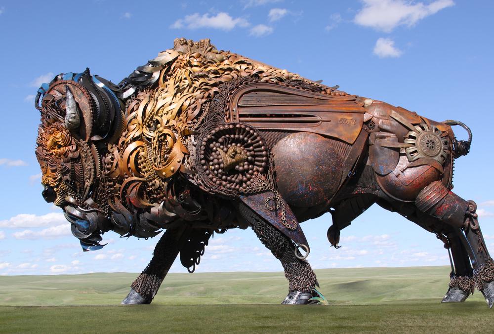 Dakotah Public Sculpture Buffalo John Lopez