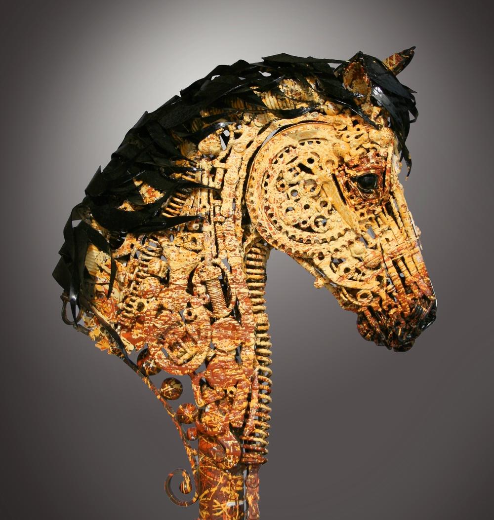 Steampunk Metal Sculpture Horse Jackson Lopez
