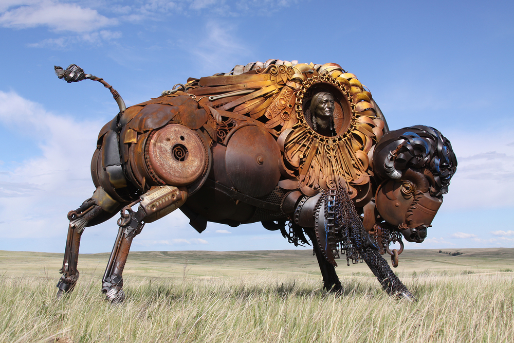 Wild West Public Sculpture Buffalo John Lopez