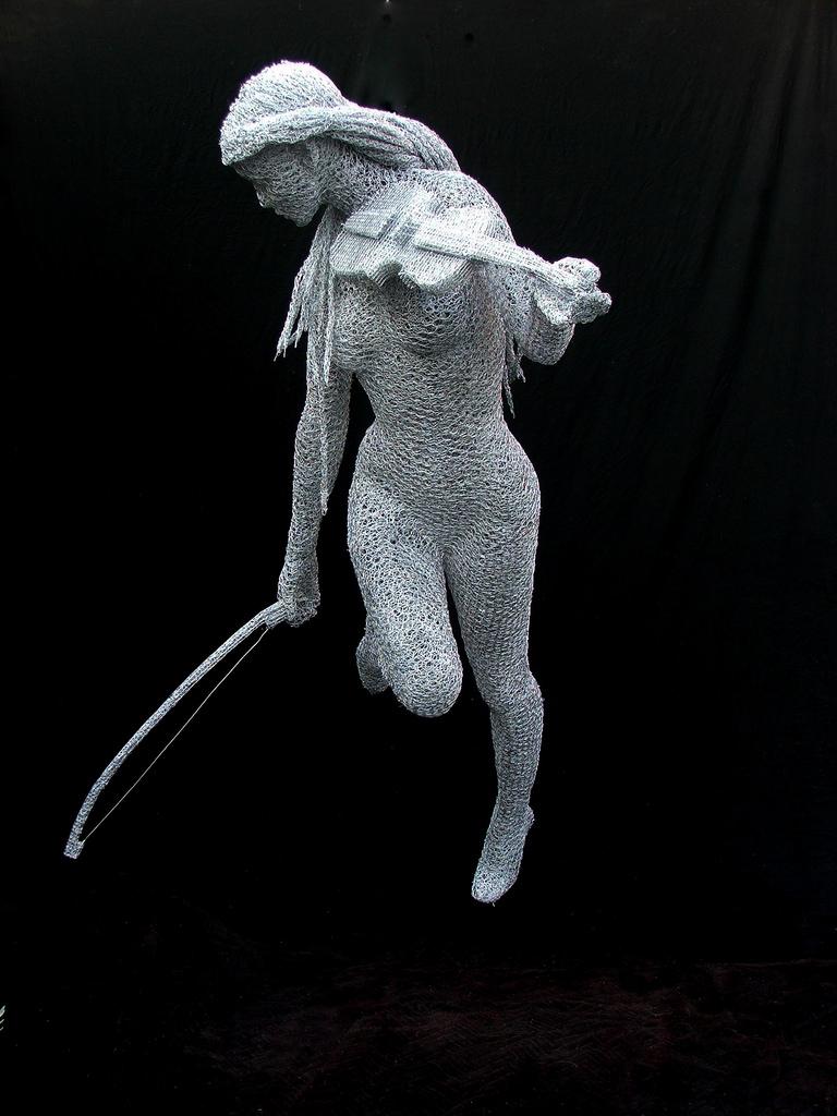 Wire Mesh Sculpture Free Spirit