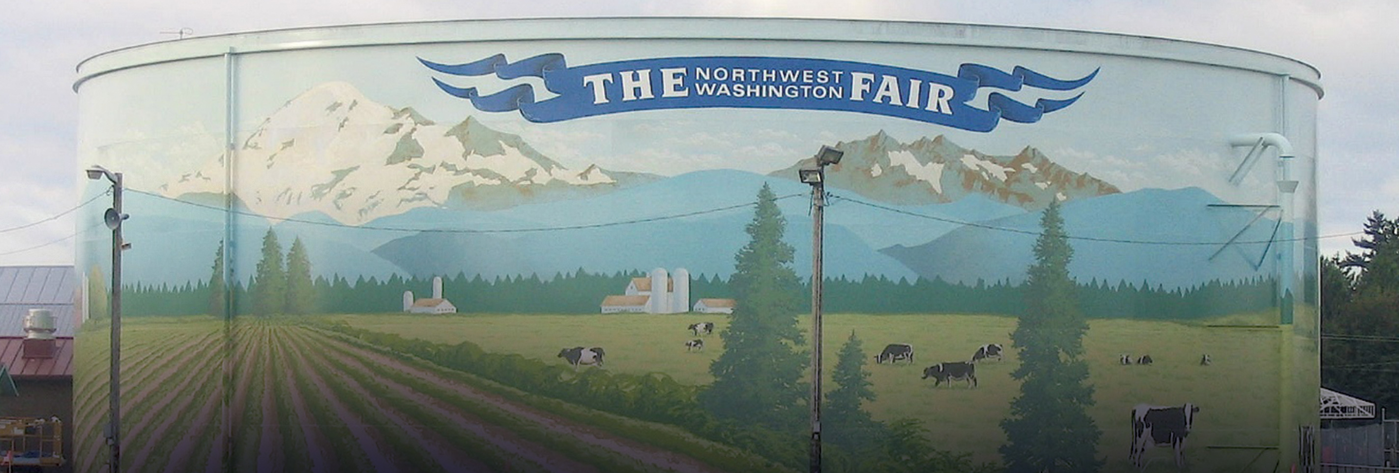 The Goetzinger brothers are masters of public water tank murals. Their special touch has created a new landmark Lynden, Washington.
