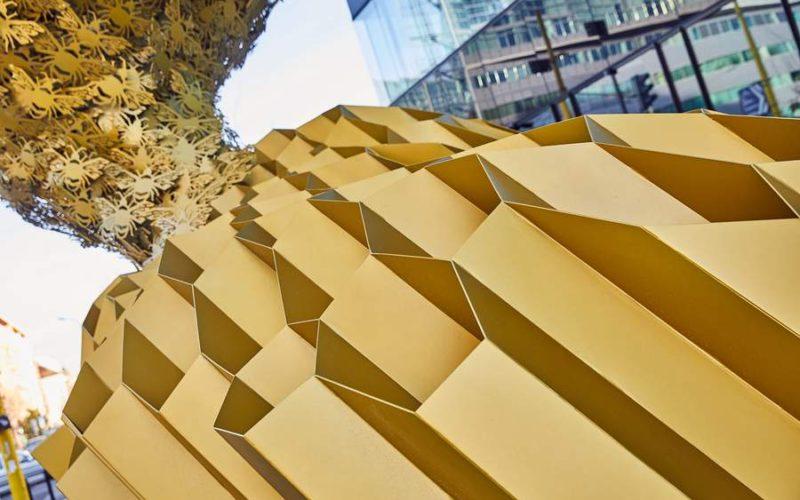 Public Nature Sculpture Honeycomb Gabor Szoke
