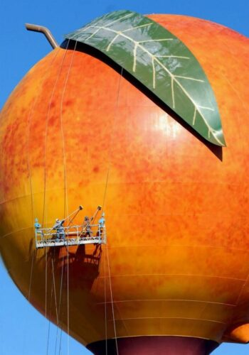The Peachoid Peach Water Tank in Gaffney South Carolina